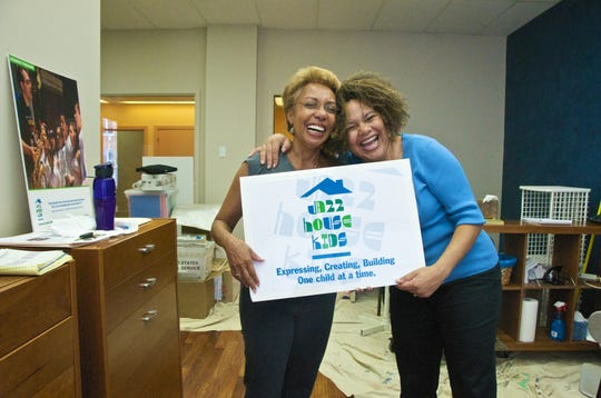 JAZZ CENTER OPENS IN MONTCLAIR: In 2009, Sharron Miller, left, of the Sharron Miller Center for Performing Arts, shares a hug and a laugh on move in day with her new tenant Melissa Walker, executive director of Jazz House Kids. Miller provided space at her 14 South Park Street studios for the Jazz House Kids' new Jazz Center.