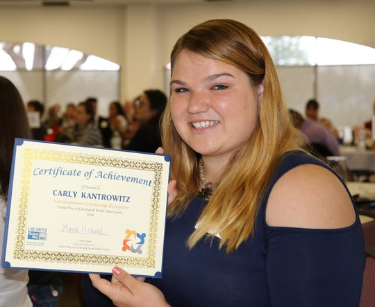 United Way of Carlsbad and South Eddy County 2018 Scholarship Recipient Carly Kantrowitz.