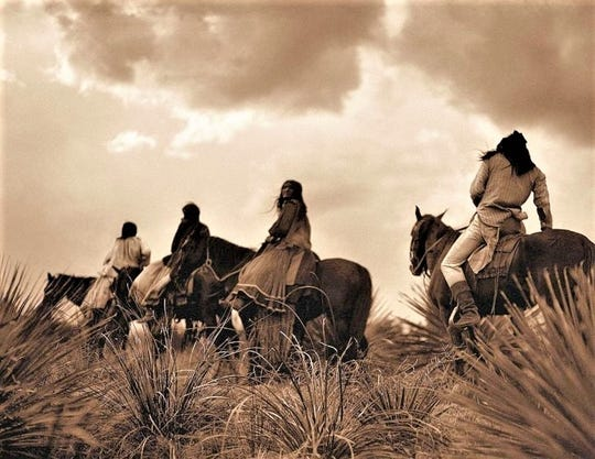 Apache tribes roamed the area.