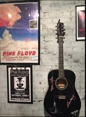 Some of the memorabilia on display comes from performances of Pink Floyd.