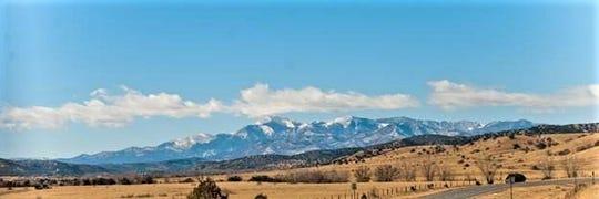 Sierra Blanca Peak from the prairie .