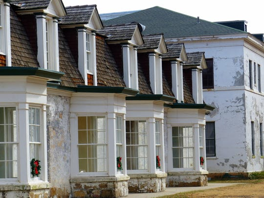 Officer's quarters are decorated during the holidays at Fort Stanton Historic Site.