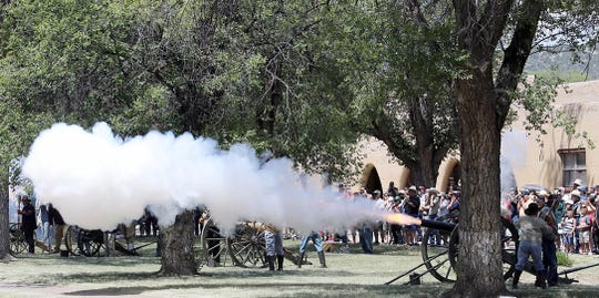 Firing the cannon is a favorite activity at the annual Fort Stanton LIVE reenactment and celebration.