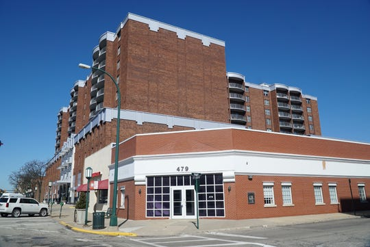 The two single-story buildings at 469 and 479 Old Woodward Avenue in Birmingham - are propsed for a zoning variation that will imay mpact the residents in nearby taller buildings -as their views may be limited.