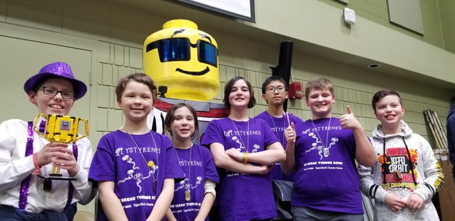 """The Polystyrenes were awarded the """"Innovative Solution"""" award and took third place at the state tournament, advancing to the Razorback Invitational Tournament in Arkansas in May."""