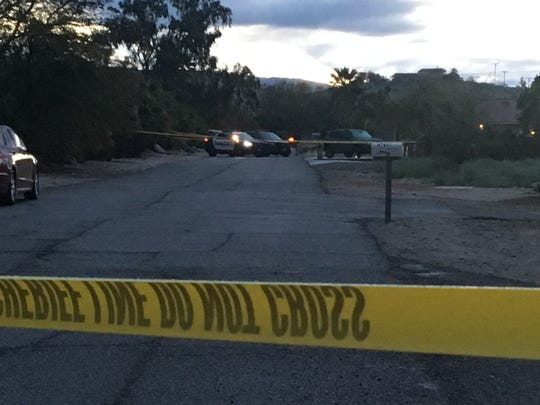 The location of standoff that ended with a peaceful resolution, according to police, on March 12, 2019, in Desert Hot Springs, Calif.