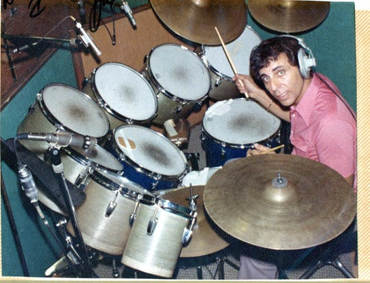 Hal Blaine was known for his unique miking of his drums in the recording studio, which was partially responsible for Phil Spector's famous Wall of Sound.
