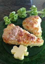 Irish cheddar scones with sweet Kerrygold butter are a perfect fit for an Irish tea party.
