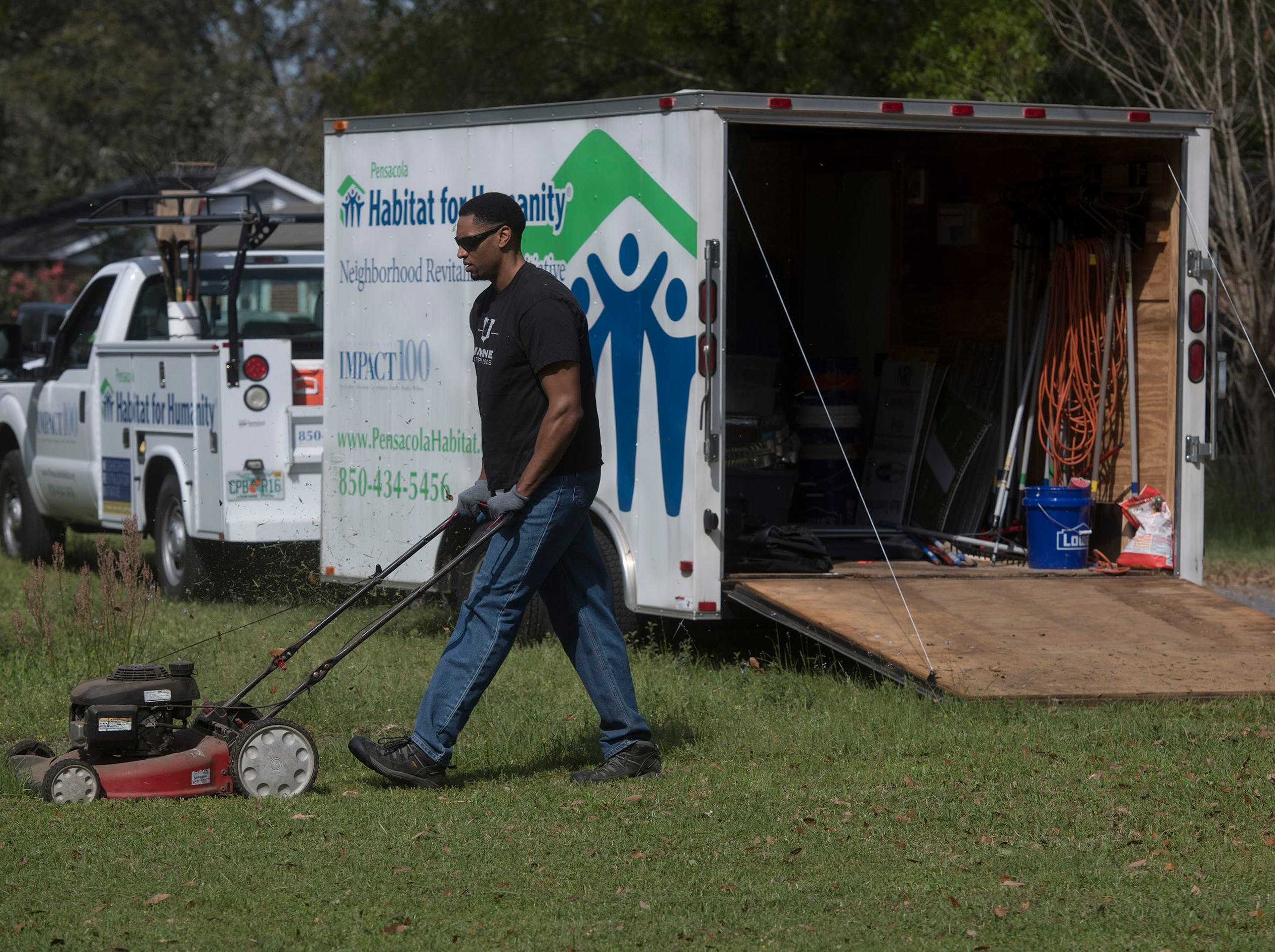Habitat for Humanity of Pensacola, Keep Pensacola Beautiful, Call to Greatness,  the City of Pensacola and Escambia County joined forces to help revitalize the Brownsville area during the inaugural Rock the Block event on Tuesday, March 12, 2019.