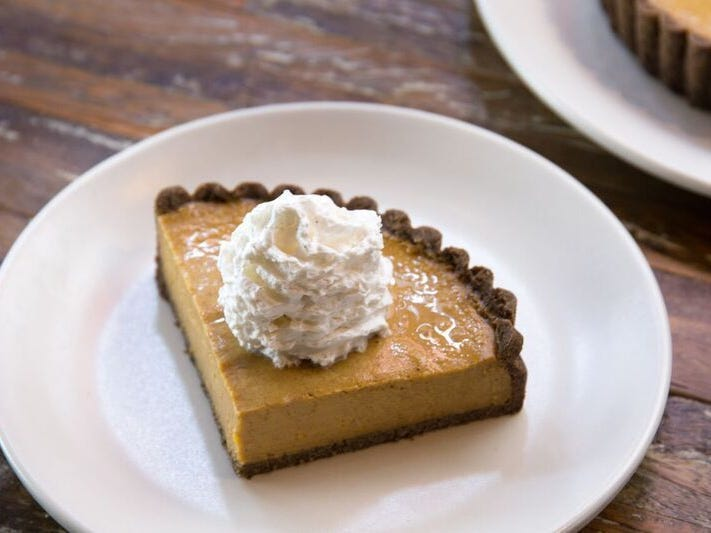TRUE FOOD KITCHEN | The vegan gluten-free squash pie ($9) is the restaurant's healthier, not-too-sweet take on the traditional pumpkin pie. | DETAILS: Biltmore Fashion Mall, 24th Street and Camelback Road, Phoenix. 602-774-3488. Also, Scottsdale Quarter, Scottsdale Road and Greenway-Hayden Loop. 480-265-4500, truefoodkitchen.com.