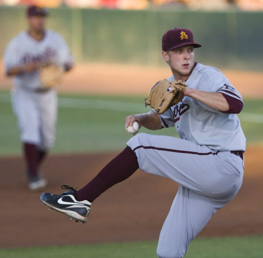 Merrill Kelly pitched for ASU in 2010 before he was drafted by the Tampa Bay Rays.