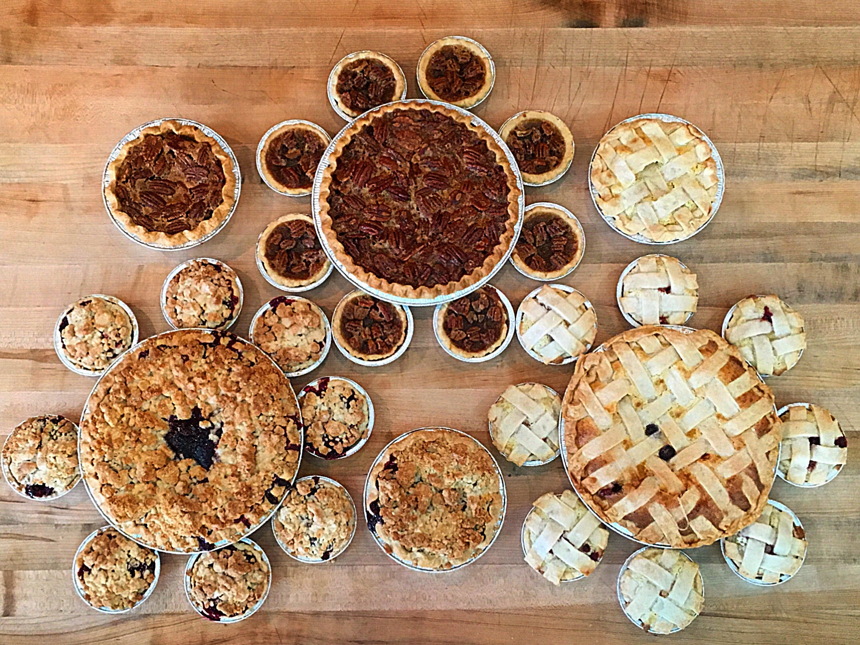 ONE MORE BITE BAKERY | The dizzying pie menu flaunts fruit, cream and sweet versions ($5-$6 per slice, $18-$22 per whole pie). Ponder lemon custard with blueberry, pear almond, chocolate pumpkin, banana foster, espresso and the Elvis (chocolate, peanut butter and banana). | DETAILS: 1166 S. Gilbert Road, Gilbert. 480-258-0020, onemorebitebakerygilbert.com.