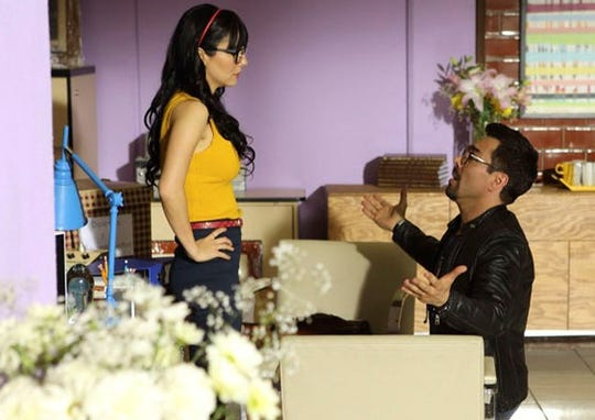 "In ""No Manches Frida 2,"" Lucy (Martha Higareda) and Zequi (Omar Chaparro) have hit a rough patch."