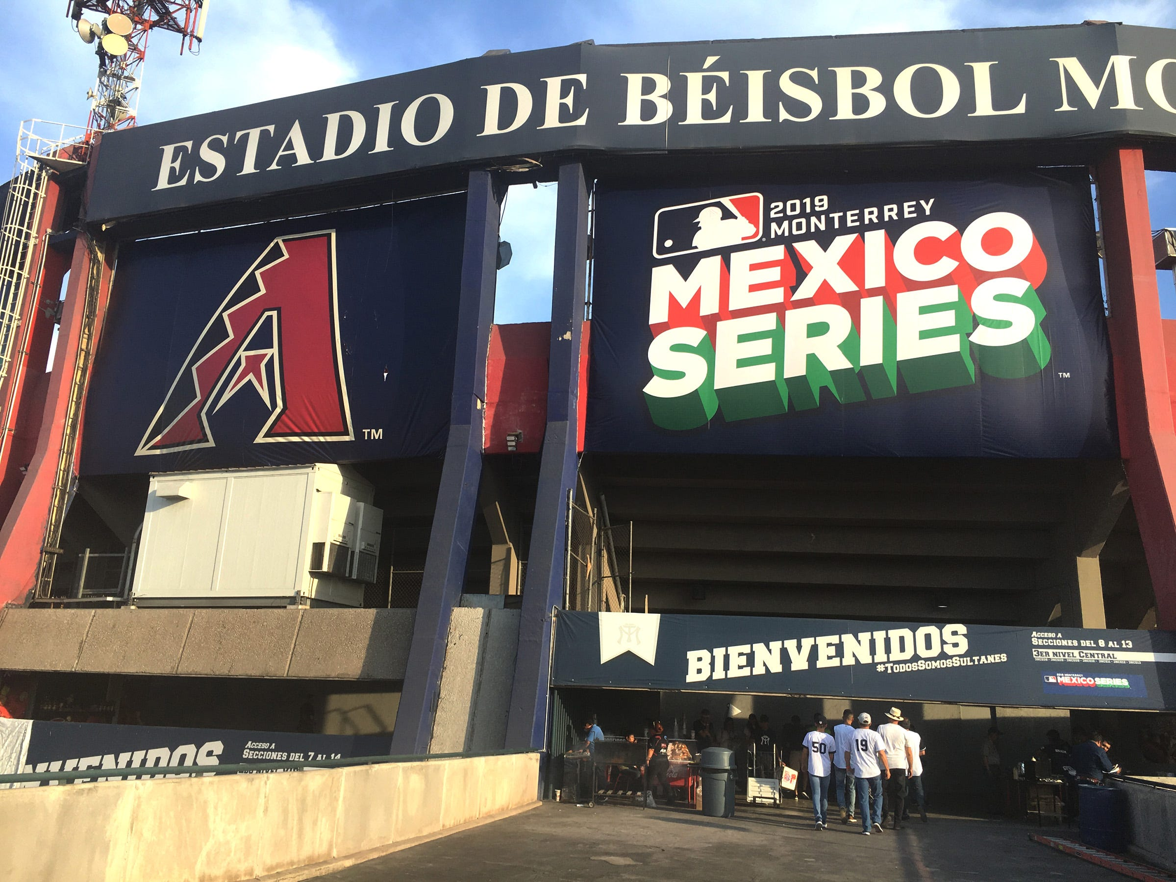 The Arizona Diamondbacks and the Colorado Rockies played two spring training games in the Estadio de Beisbol in Monterrey, Mexico. The 21,000-seat stadium is home to the Sultanes de Monterrey and is the largest in Mexico.