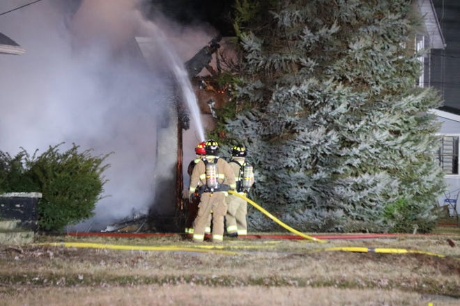 A fire destroyed a home on Third Street east of McKinley Drive in Port Clinton on Monday night.