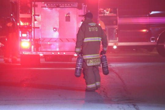 Danbury Township Fire Department were called to assist PCFD to fight a house fire on Third Street east of McKinley Drive in Port Clinton on Monday night.