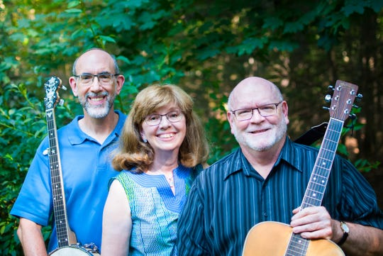 Rich Keyes, left to right, Carol and Kevin Becker will perform March 16 as part of the Poughkeepsie Chapter of the Hudson Valley Folk Guild coffeehouse series.