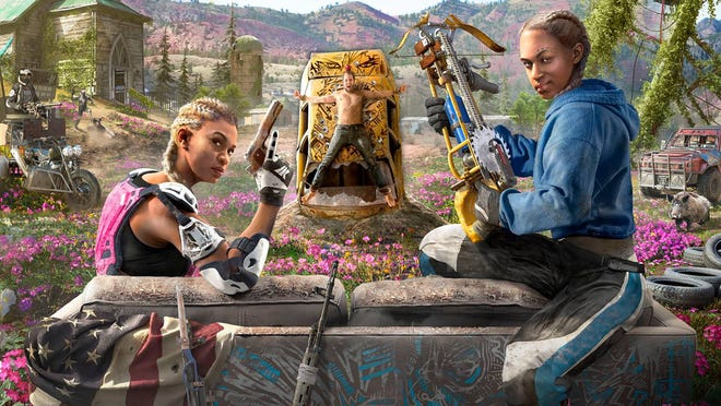 Far Cry New Dawn's bad girls, Mickey and Lou indulge in some target practice.