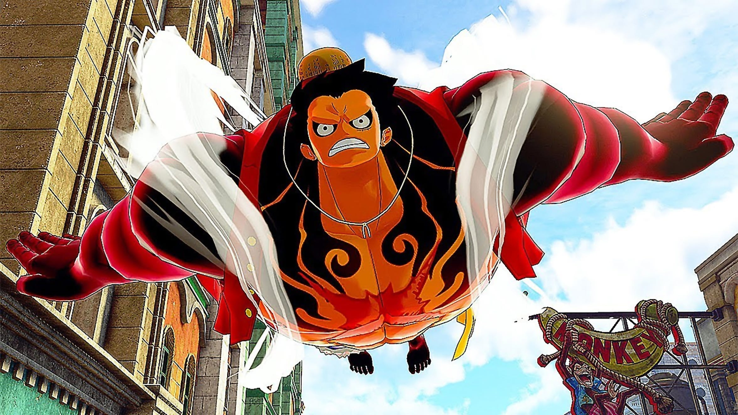 Luffy's Gear 4 in One Piece: World Seeker for PC, PS4 and Xbox One.
