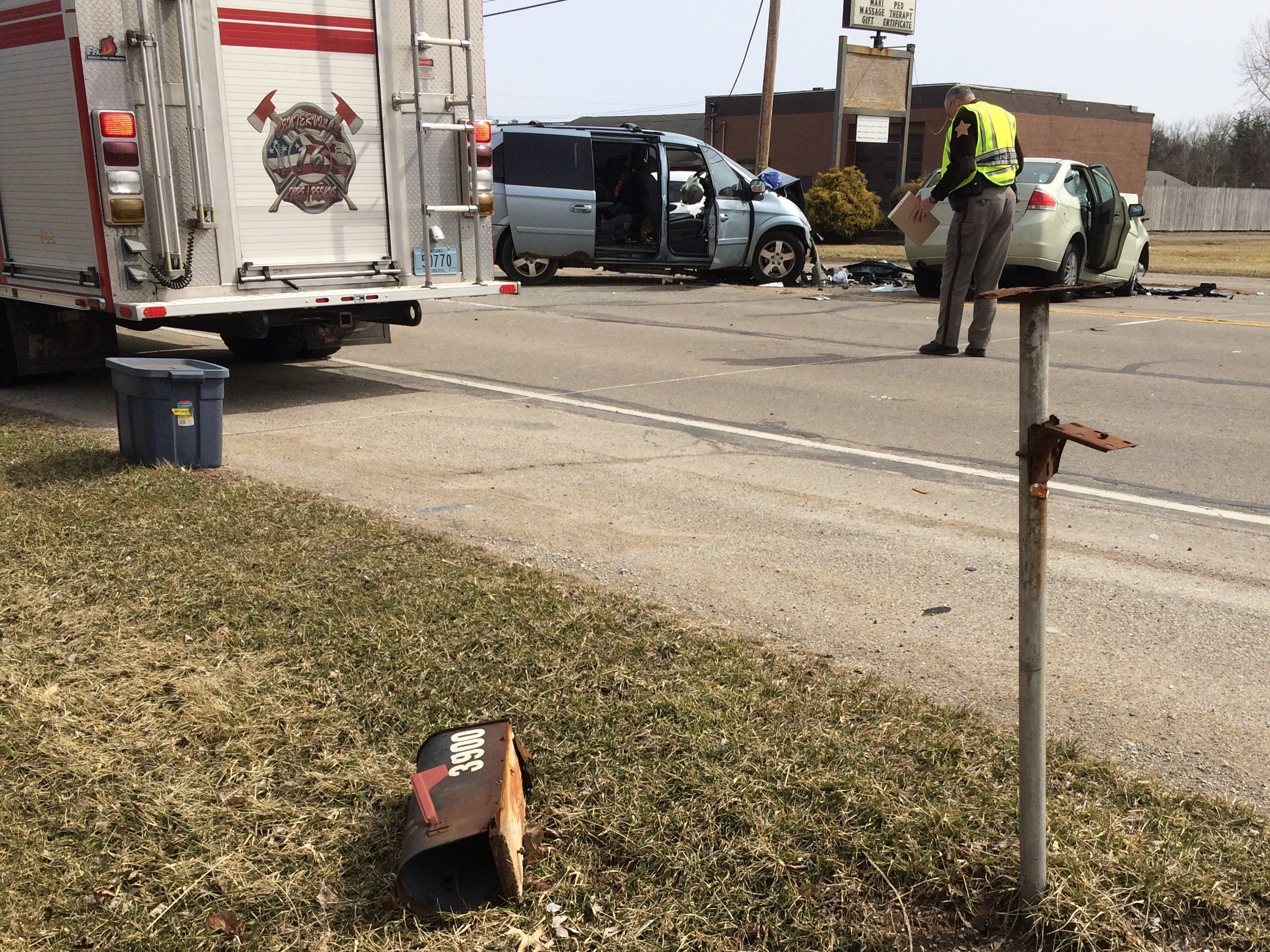 An accident occurred Tuesday afternoon in the 3900 block of National Road West.