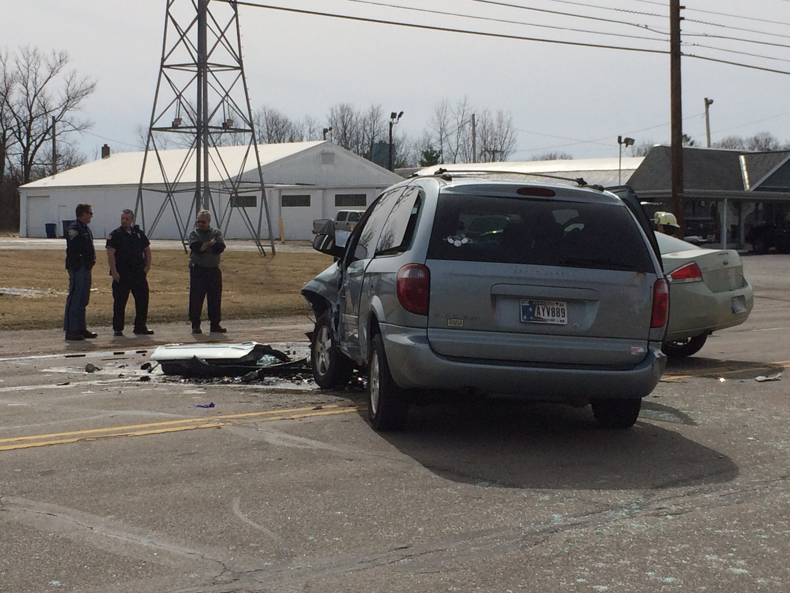 One person died and three people were taken to the hospital after a Tuesday afternoon accident in the 3900 block of National Road West.