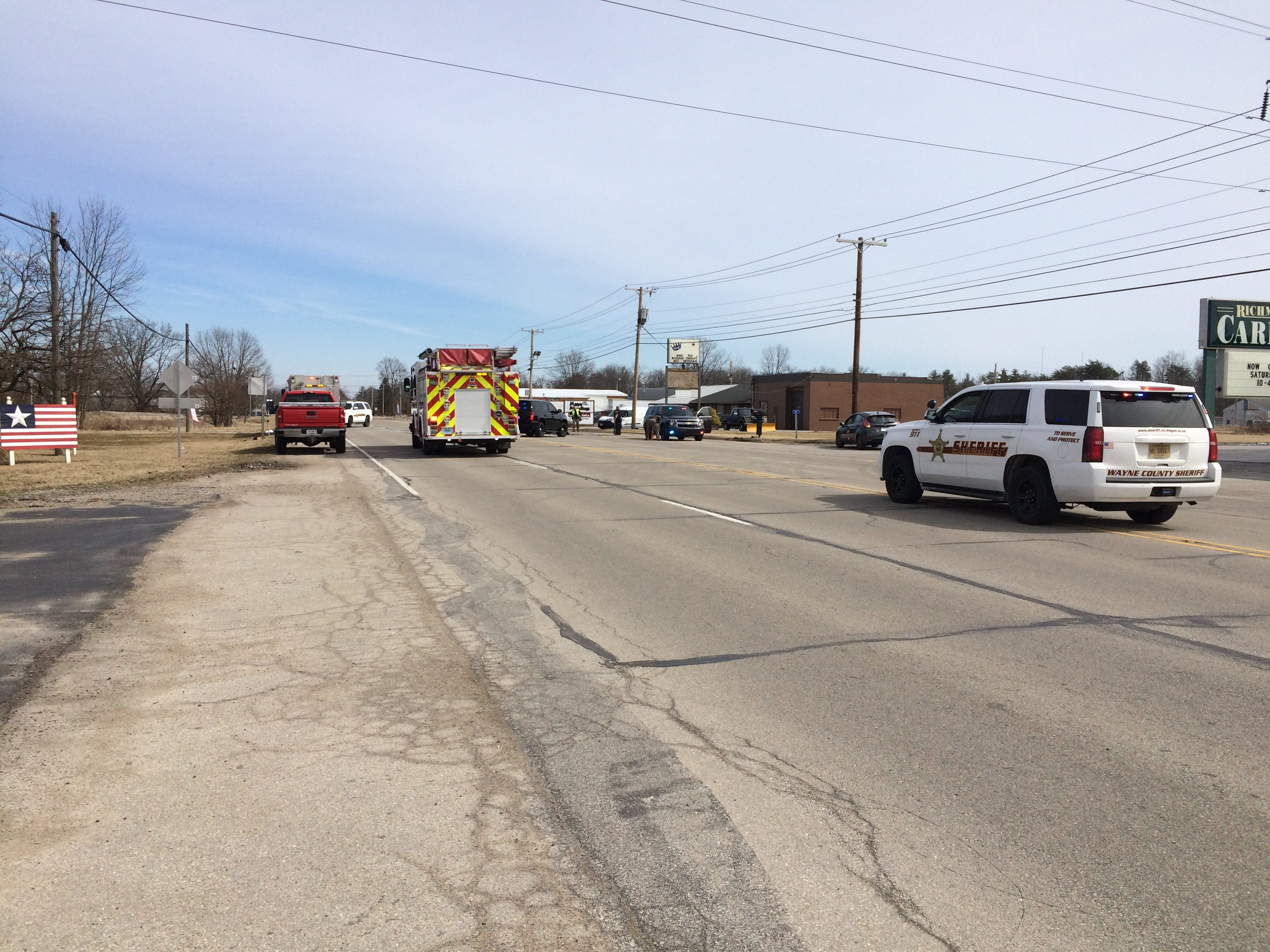 A deadly accident blocked National Road West in the 3900 block for nearly two hours Tuesday afternoon.