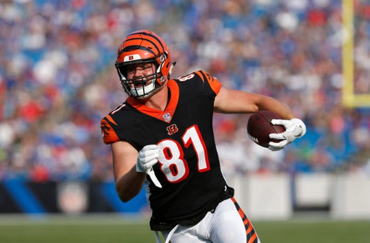 Tyler Kroft has battled injuries, but he caught 42 passes in 2017 for the Bengals.