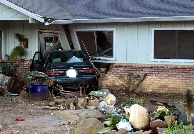A Redding man swerved to avoid a deer in the 6000 block of Churn Creek Road on Monday evening and crashed into an unoccupied home, according to the California Highway Patrol.