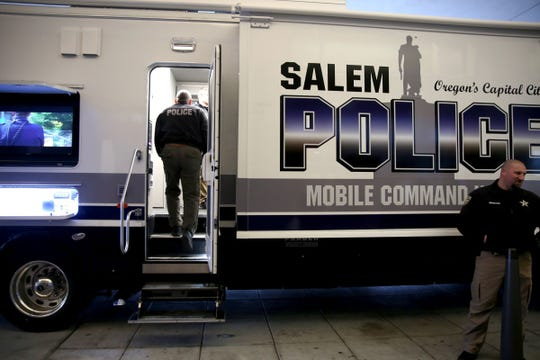 The Salem Police Mobile Command Unit was introduced in December and has been used in incidents such as a man who barricaded himself inside a home on Summer Street after allegedly burglarizing several homes on Jan. 22, and homicide investigation at a southeast Salem home on Jan 8.