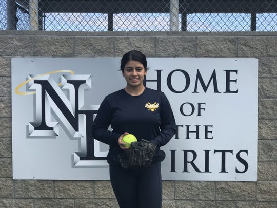 Notre Dame freshman Sam Rocha was a star in the circle last week, throwing a one-hitter in her varsity debut.