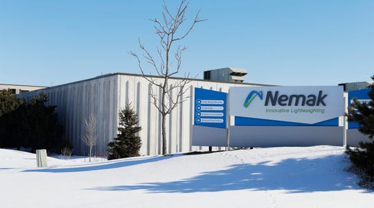 The exterior of Nemak on Gateway Drive as seen Tuesday, March 12, 2019, in Sheboygan, Wis.  The firm was cited for two health violations by OSHA.