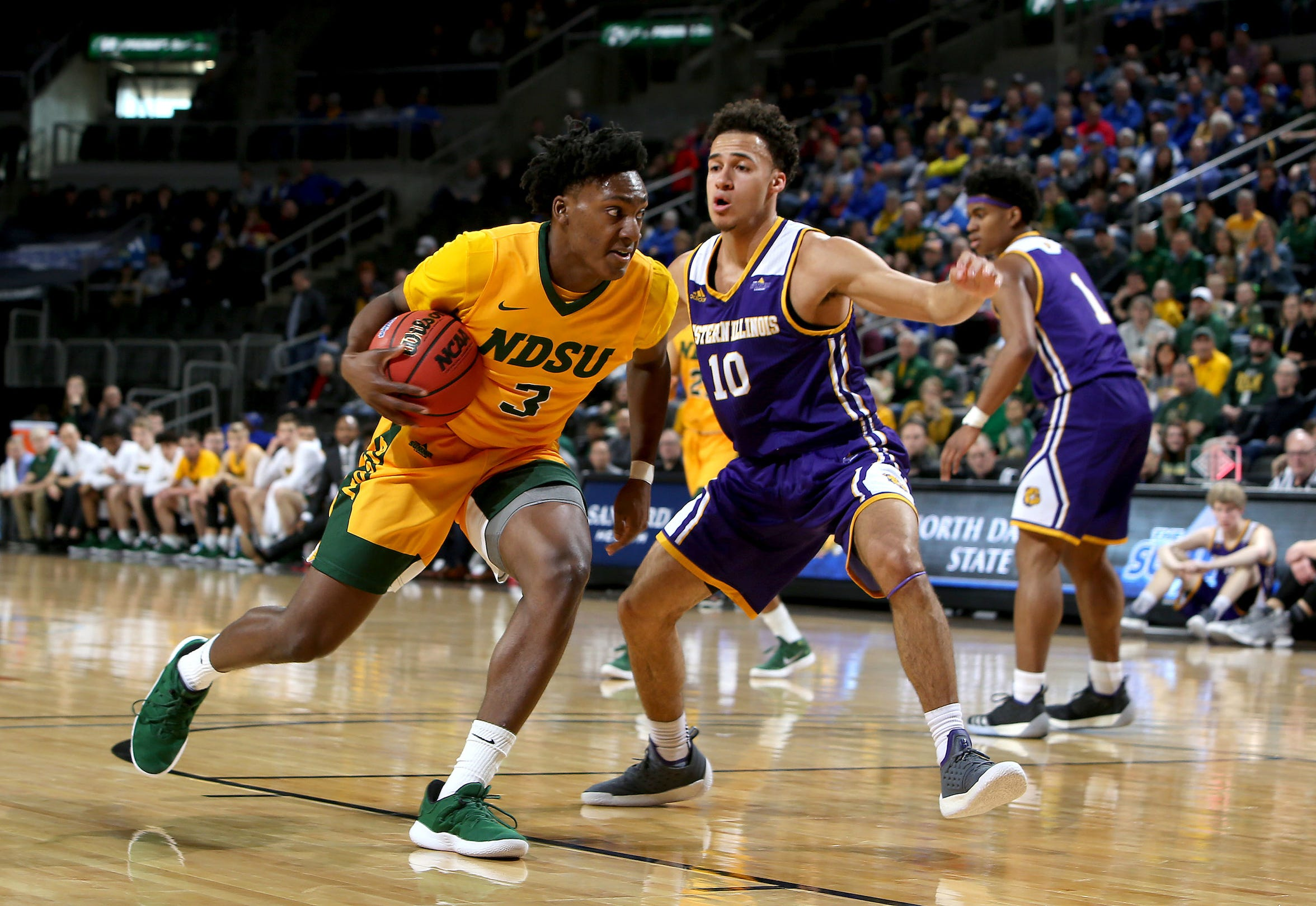 Tyree Eady (left) is one of two Middleton High School alumni in the NCAA Tournament.