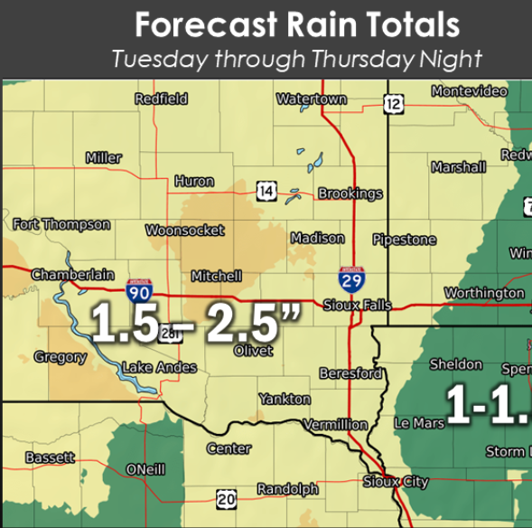 Rain, snow, wind to hit Sioux Falls this week, travel west will be near 'impossible'