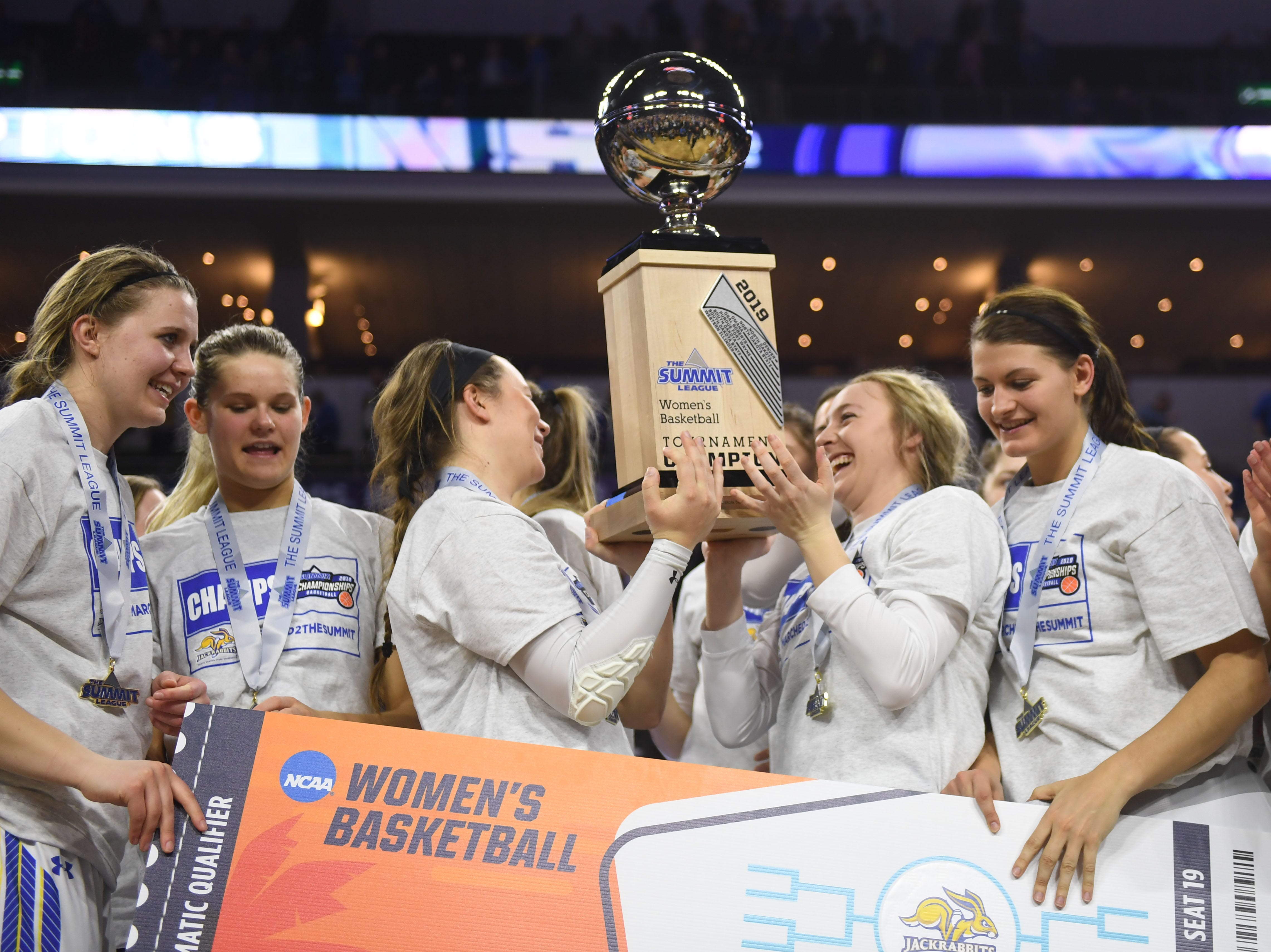 SDSU won 83-71 against USD Tuesday, March 12, in the Summit League women's championship at the Denny Sanford Premier Center in Sioux Falls.