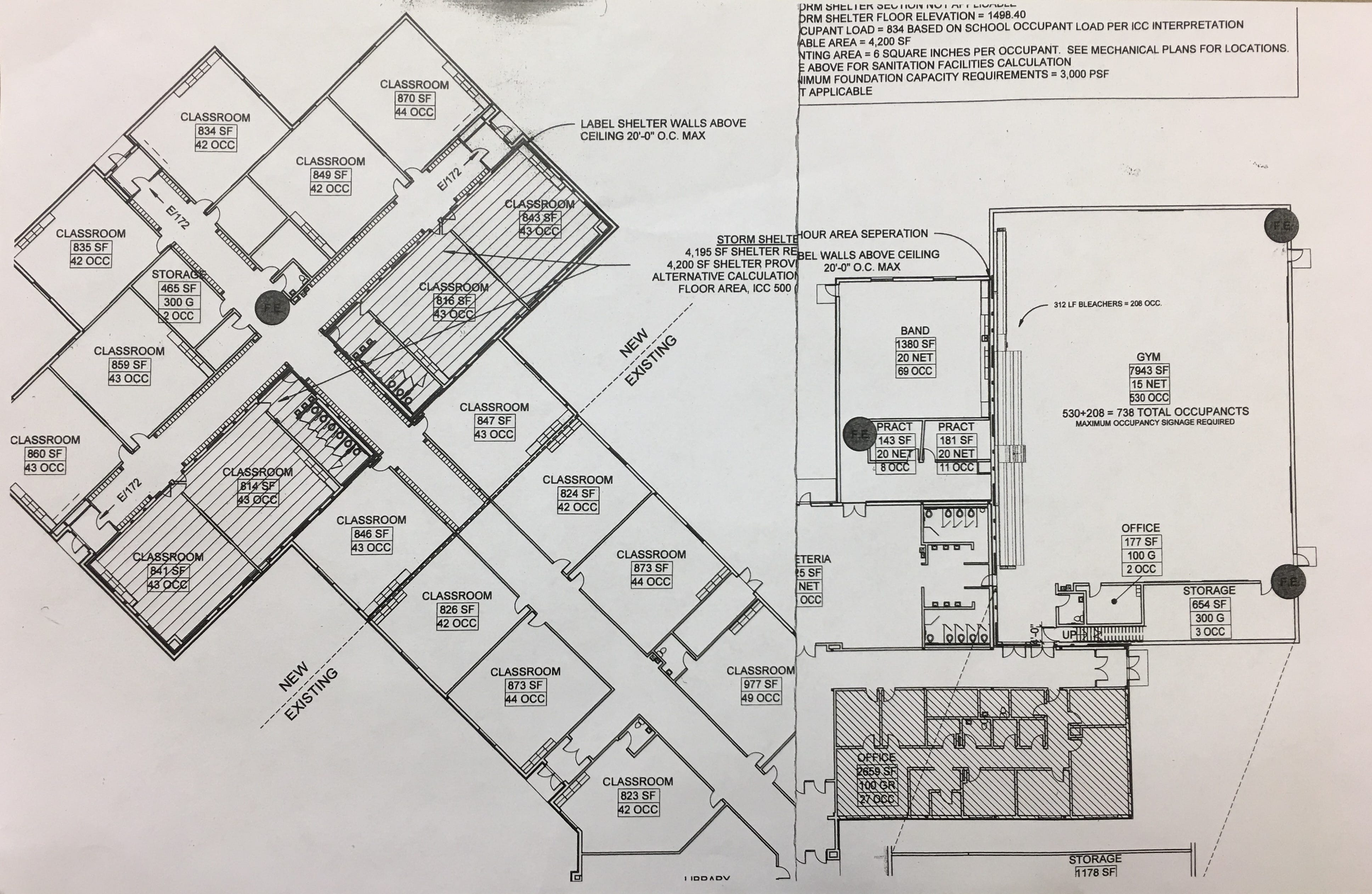 A renovation plan for Frontier Elementary is shown. The Tea Area School District is adding 12 classrooms, a gymnasium and a band hall to the campus, all of which is expected to be complete by fall.