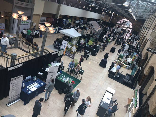On March 12, 2019, the second day of the MoCannBizCon+Expo in downtown St. Loui, organizers said 1,800 people had attended.