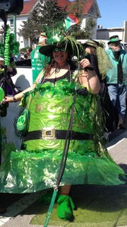 Margie at the St. Patrick's Day Parade and Celebration.