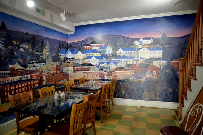 A new mural has been painted inside one of Staunton's downtown sandwich cafes to celebrate 40 years of continual business.