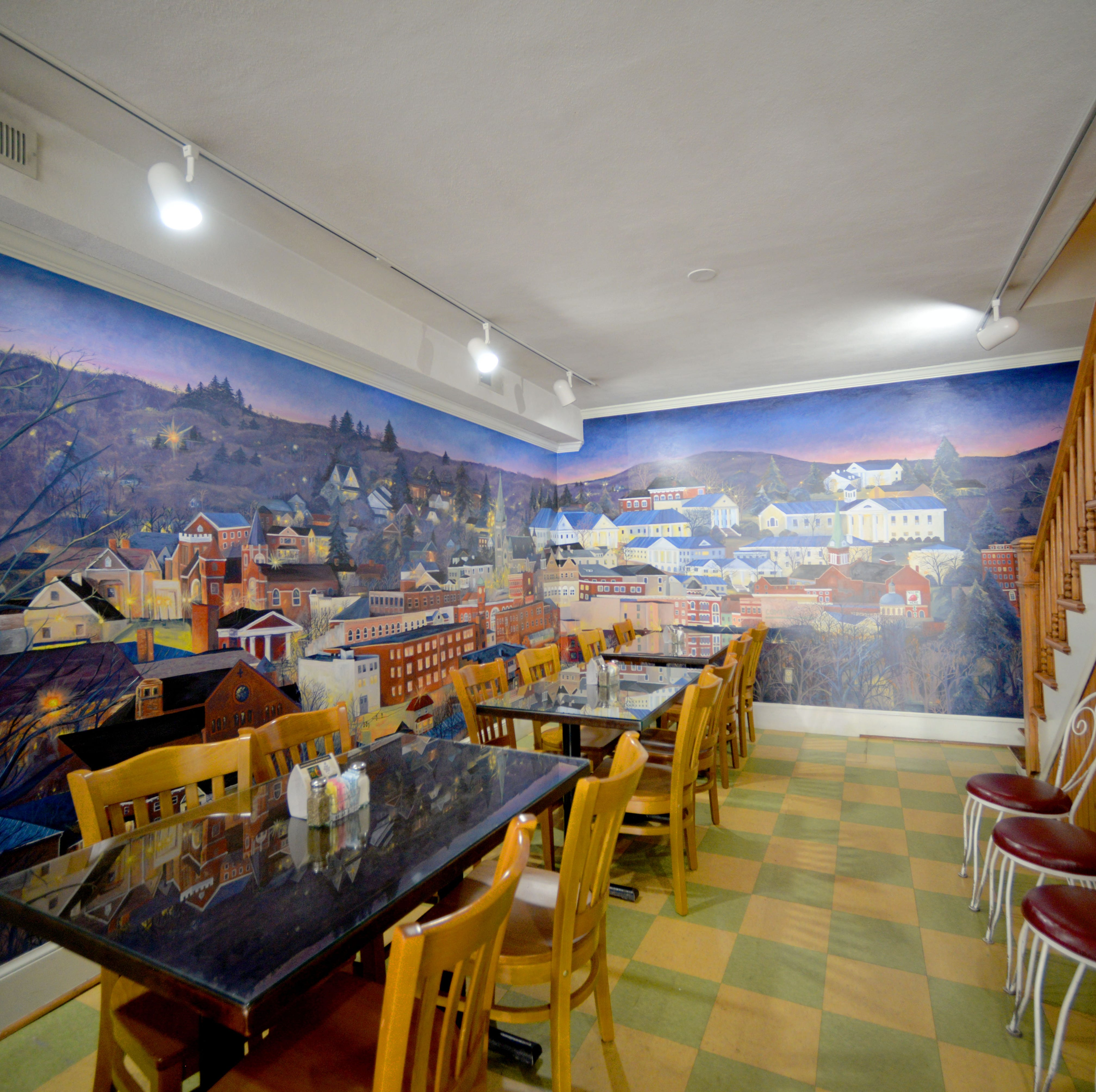 Stunning Staunton mural at Pampered Palate Cafe