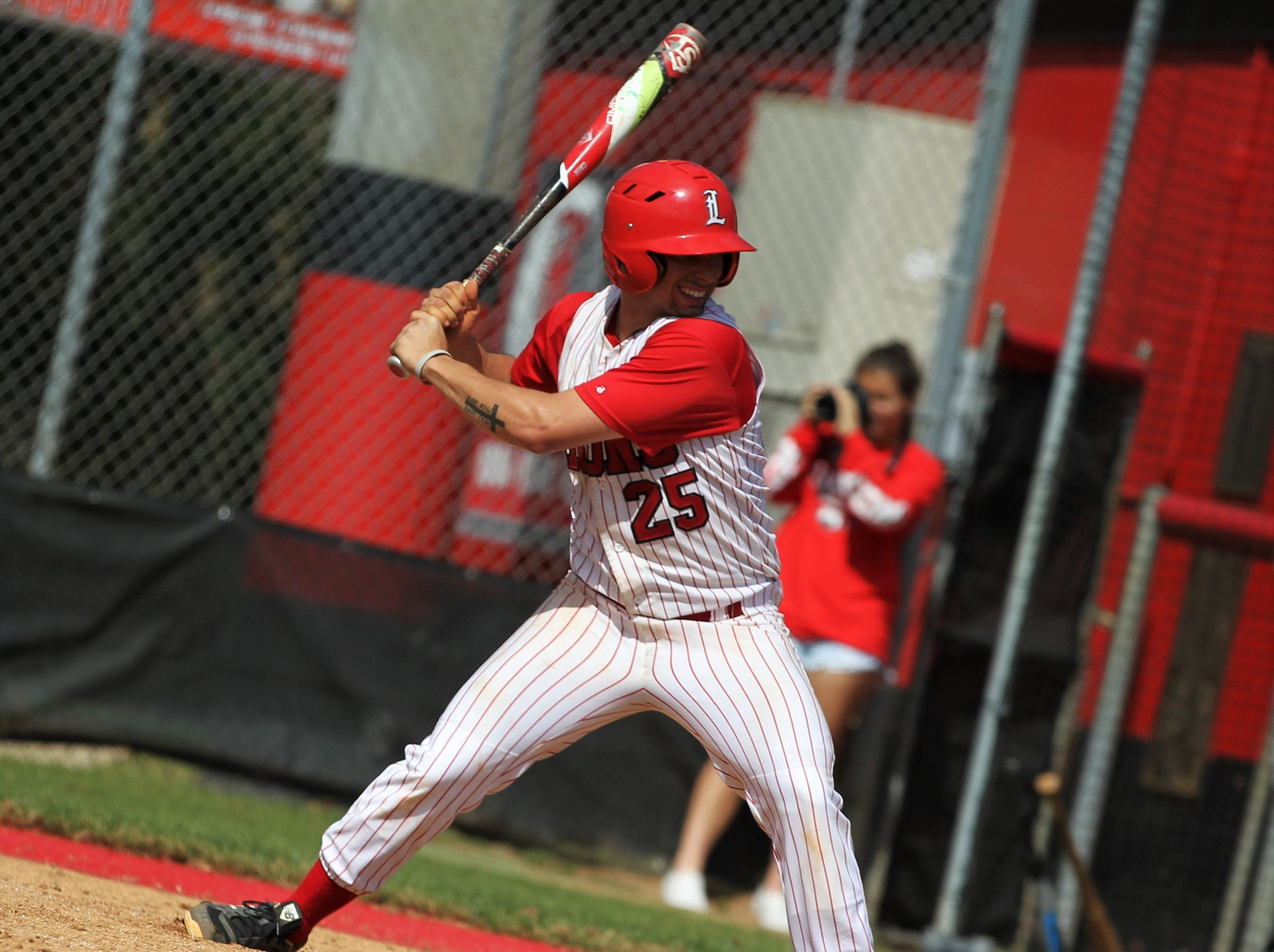 Leon senior Tyler Borges bats as NFC plays at Leon during a preseason game in February.