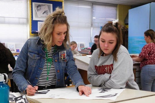 "Through Raa's arts mentoring program, the ""Art for Life"" students gain contact hours with middle schoolers."