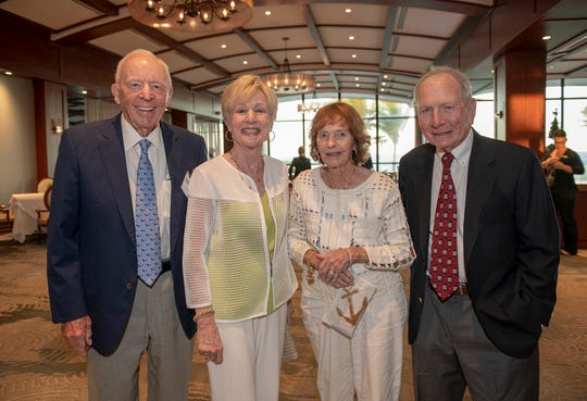 Hal and Melanie Fenner, left, with Wendy Randall and Peter Behr at the 2019 Frances Langford Humanitarian Award reception at Sailfish Point Country Club.