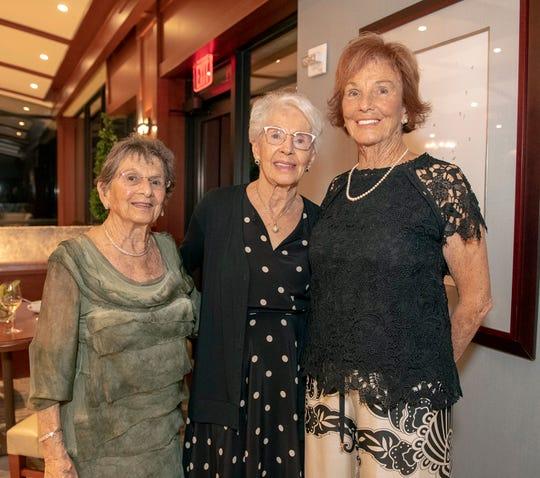Mary Kay Buckridge, left, Helen Blake and Claudette Mitchell at the 2019 Frances Langford Humanitarian Award reception at Sailfish Point Country Club.