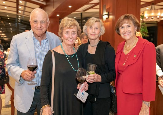 Bob and Carol Weissman, left, with Patti Stewart and Sen. Gayle Harrell at the 2019 Frances Langford Humanitarian Award reception at Sailfish Point Country Club.