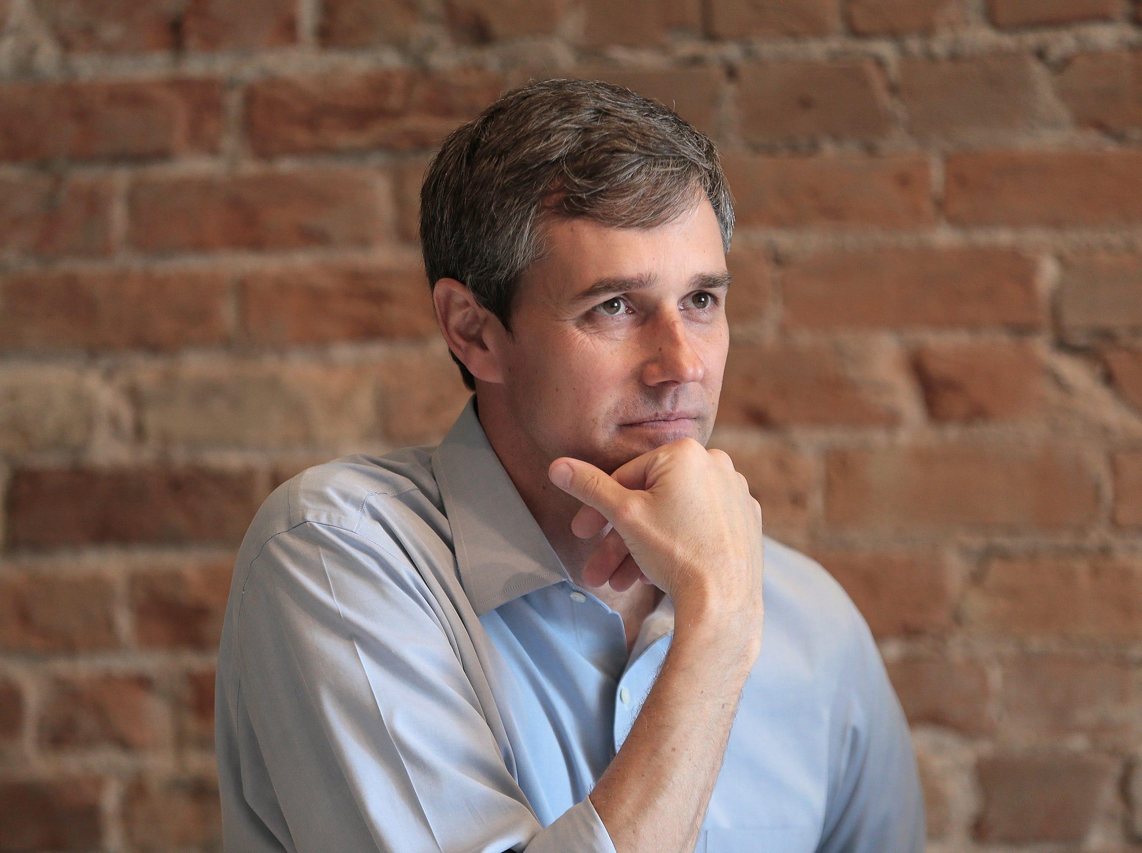 Beto O'Rourke at his home in El Paso.