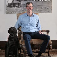 df3ca8c13b7 Beto O'Rourke 2020: Twitter reacts to dog on his Vanity Fair cover