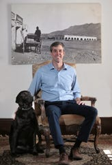 Beto O'Rourke is shown at his Sunset Heights home.
