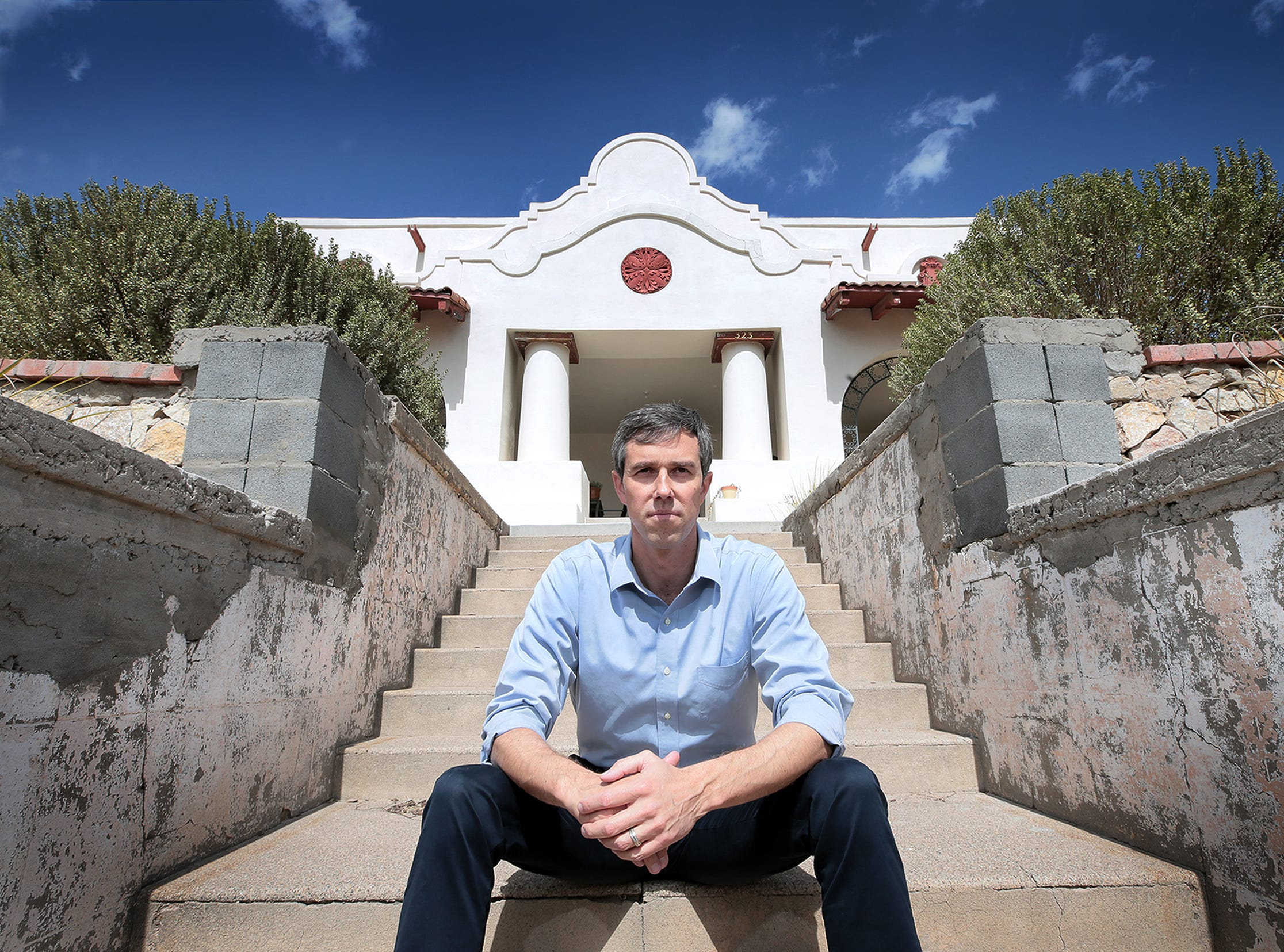 Democrat Beto O'Rourke, shown at his home in Sunset Heights in El Paso, officially entered the presidential race Thursday morning and immediately became the focus of Republican attacks.