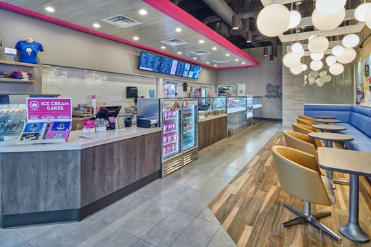 Baskin Robbins has updated its design and will unveil the new concept on El Paso's West Side.