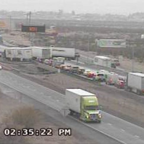 Trans Mountain closed, traffic accident closes I-10 East near Vinton in El Paso County